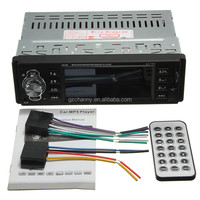 New Car Stereo Radio 1 Din In dash USB/FM/SD/MMC/WMA/AUX/MP3 Player HD Screen 12V