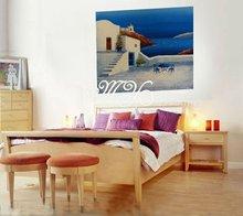 Excellent modern seascape oil painting hotel artwork ct-317 greece landscape painting