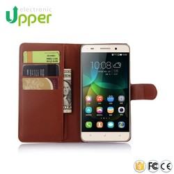 Factory price mobile smart cover fancy cell phone PU leather flip case for huawei honor 4c
