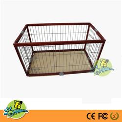 "Dog Cage Pawhut Deluxe Folding Wood Pet Dog Pen - 46""L x 24""W x 27""H"