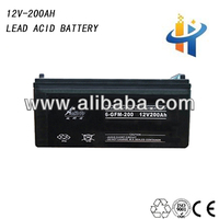 12V 200AH volta battery for ups, vrla battery deep cycle low resistance