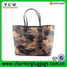 Camouflage leather handbag/ miliatry shoulder bag