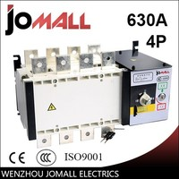 Alibaba china supplier wenzhou hot sale manufactory 630amp 4 pole 3 phase automatic transfer switch ats