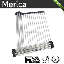 kitchen tool Popular Stainless Steel Corner Dish Rack