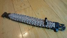 Paracord King Cobra Bracelet With Fishing KIT / Fire Rod / Whistle - DESERT CAMO