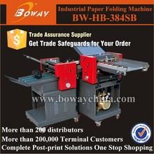 Boway service 384SB 9 kinds fold way Paper hand fan fold machine