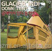 Estilo coreano cônico barraca de acampamento grande família da barraca de madeira