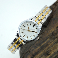 Promotional women watches/quartz stainless steel watch water resistant