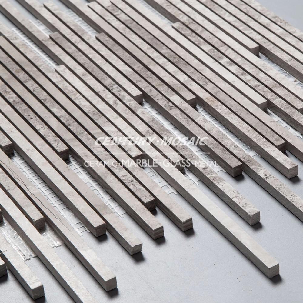 긴 스트립 패턴 모자이크 나무 벽 패널 타일 공장-대리석 -상품 ID ...
