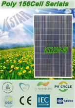 Best price high efficiency solar cell 220w polycrystalline PV solar panel price/polycrystalline kingstar solar panel(KS220P-60)