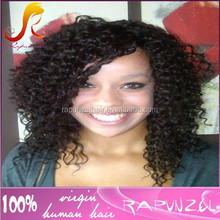Tiny curl indian lace front human hair wigs