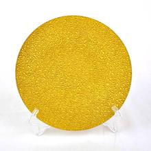 blown glass plate wall decoration new product launch in china beaded charger plate purple band glass charger plate made in China