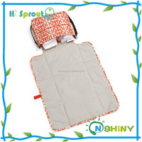 Hot sales factory high quality travel changing pad foldable baby diaper bags, portable baby changing pad
