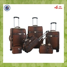 "luggage set 6pcs factory 12""14""18""19""23""26""inch 5in1 pu designer bags printed suitcases hot sale travelling luggage bag"