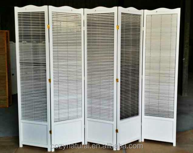 Solid wood shutter screen folding buy wooden