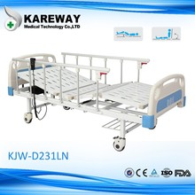 two functions electric CE patient bed with Aluminum side rail