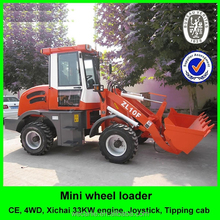chinese mini wheel loader zl10, articulated good quality ce 4wd zl10 mini wheel loader