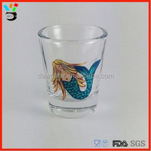 Beautiful Vintage Shape & Test Tube Shape Playful Clear Mermaid Shot Glass
