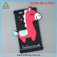 3D Horse Lovely Rubber Soft Shell Cover For iPhone 6 Silicon Candy Colorful Animal Case