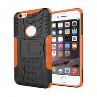 New Spider-Man Hybrid TPU PC Combo Phone Case With Stand Cover Case For Apple IPhone 6