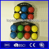 Wholesale PE french plastic petanque game with 6pcs or 8 pcs