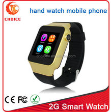 New trend design silicone sports mobile phone watch with lcd touch screen