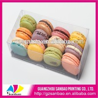 Plastic clear plastic pet macarons/cupcake/cookie package box