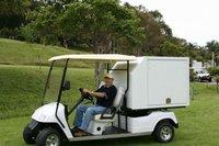 Fiberglass Refrigerated Truck Body on a Golf Car