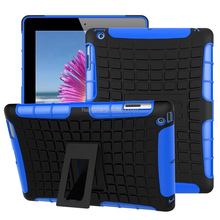 new products 2016 TPU PC Hybrid Kickstand Back Cover drop resistance case for ipad 4 / 3 / 2 factory price