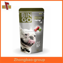 guangzhou producted dog food pet food plastic bag with zipper
