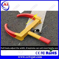 Anti-theft steering wheel lock,mild steel tyre lock for car and motorcycle car wheel clamp prices