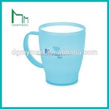 bleu dessin animé de café tasse en plastique avec couvercle