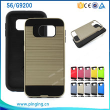 New Hot Cell Phone Case TPU+PC hybrid Case for Samsung Galaxy S6