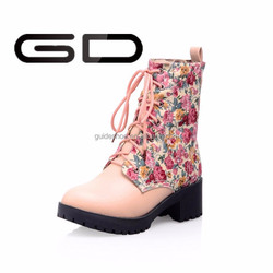 made in china lace up good quality colorful warm boots women