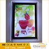 Digital Indoor advertising display led crystal light box/board for picture frame