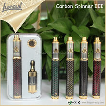 Original manufacture supply high quality carbon spinner III design ego t battery