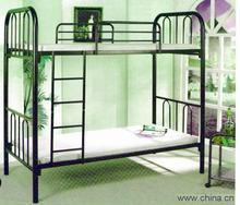 2015 HOT SALE modern wrought iron kids bunk bed with slide