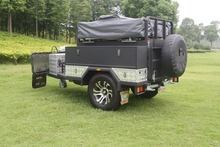Caravans and motorhomes Travel Trailer motorcycle Camper Trailer with Roof Top Tent