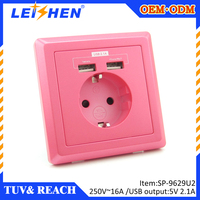 European Powerpoint and USB charging sockets,TUV approval electrical USB outlet for iPhone and ipad etc