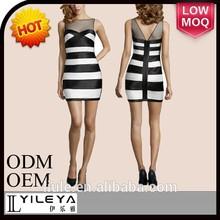 vestidos de moda modelo más reciente bodycon sexy vestido vestido de encaje de diseños