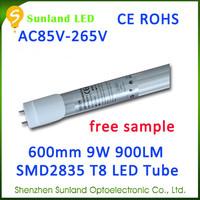 Alibaba french 48pcs cool white CE ROHS uv light tube led t8 tube9 5w 2ft