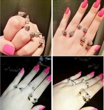 Fashion 18k gold wholesale arrowhead midi knuckle rings for girl