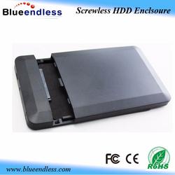 Tool free external hard drive protective case usb2.0 sata 2.5 hdd case