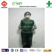 Dental Disposable Products Sleeveless Hospital Patient Examination Gown