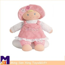 Hot selling beautiful plush cartoon baby doll