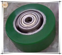 green elastic polyurethane tyre aluminium core wheels for trolley