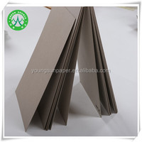 recycled grey paper hardwood pulp/recycled pulp paperboard