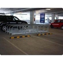 Black & Yellow 1.65 Meter Rubber Wheel Stopper Car Parking Lot Equipment