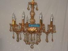 2015 Gold Bowls Glass Chandelier with CE UL , 100% K9 Crystal Pendants and 3 Year Warranty CCSPH6801-8