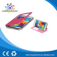 Good quality genuine PU leather phone case printer for samsung galaxy s5